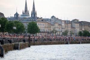Parade d arrivee des Figaro lors de la Solitaire Urgo Le Figaro 2017 - Bordeaux le 26/05/2017